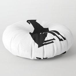 Italian Greyhound Silhouette Floor Pillow
