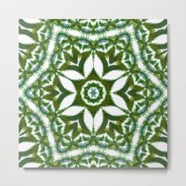 Palm Mandala (on white) #1 Metal Print