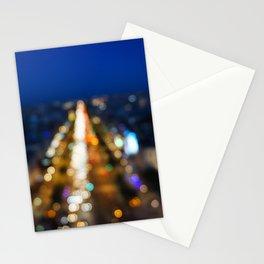 Paris Nighttime Traffic Stationery Cards