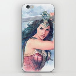 WonderWoman watercolor 2 iPhone Skin