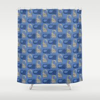 headphones Shower Curtains featuring Headphones by BulanLifestyle