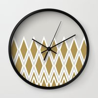 crown Wall Clocks featuring crown by lorelei art design