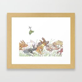 Defeating the fable Framed Art Print