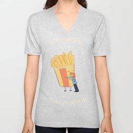 Hot Chips! Unisex V-Neck