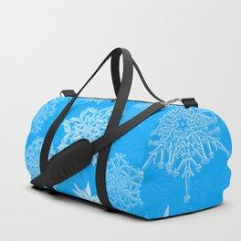 Snowflake Pattern (Light Blue) Duffle Bag