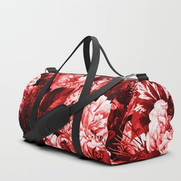 winter flowers seamless pattern 01 big lovely red Duffle Bag