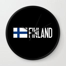 Finland: Finnish Flag & Finland Wall Clock