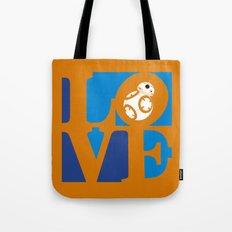 Robot LOVE - Orange Tote Bag