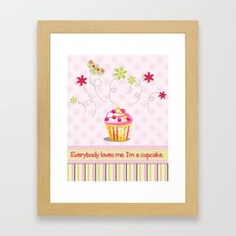 Cupcake Love Framed Art Print