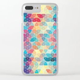 Colorful geometric pattern Clear iPhone Case