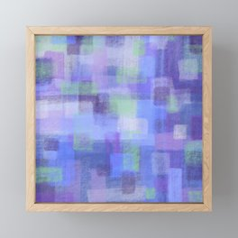 Purple Blocks Framed Mini Art Print