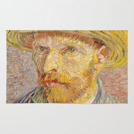 Vincent van Gogh - Self-Portrait with a Straw Hat - The Potato Peeler Rug