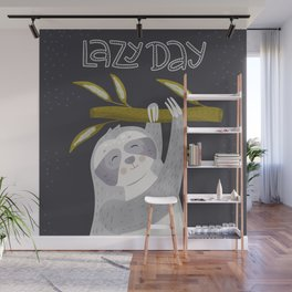 Lazy Day - Sloth Wall Mural