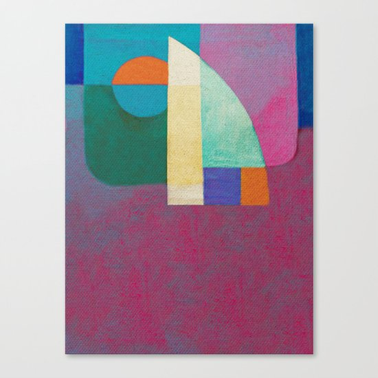Una Regata Colorata Canvas Print