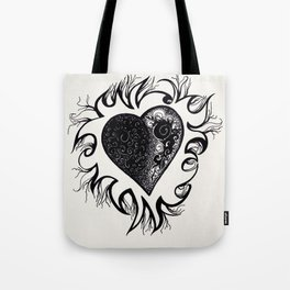 """If I Had A Heart, This Is What It Would Look Like"" Tote Bag"