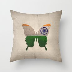 india butterfly Throw Pillow