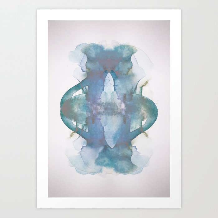 Purple Pond Reflection Art Print