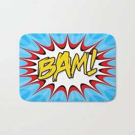 """BAM!"" Pop Art Poster Bath Mat"