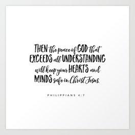 Philippians 4:7 Bible Verse Art Print