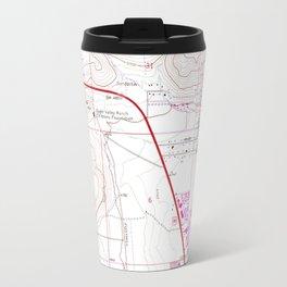 Vintage Map of Carson City & Washoe Lake NV (1968) Travel Mug