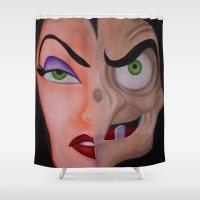 evil queen Shower Curtains featuring Evil Queen by Jgarciat