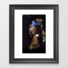 Panelscape Iconic  - Girl with a Pearl Earring Framed Art Print