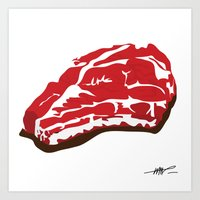 meat Art Prints featuring meat by Takeru Amano