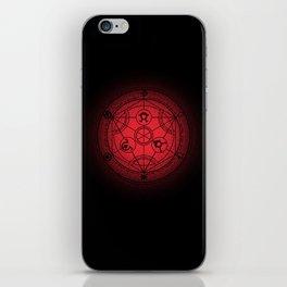 transmutation halftone circle iPhone Skin