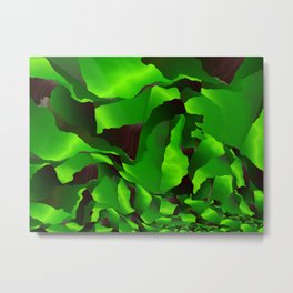 Green frayed abstraction Metal Print