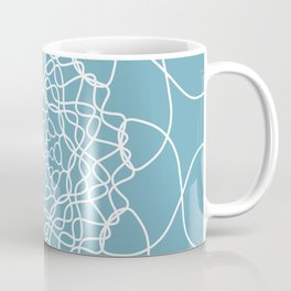 Mandala String Theory of Aqua Coffee Mug