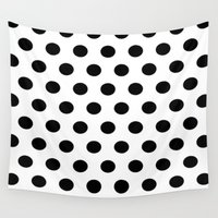 polka dots Wall Tapestries featuring POLKA DOTS by I Love Decor