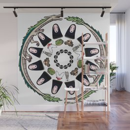 SPIRITED AWAY MANDALA Wall Mural