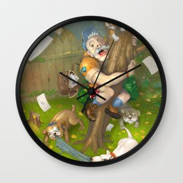 Two days before retirement Wall Clock