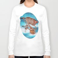 pirates Long Sleeve T-shirts featuring Pirates by José Luis Guerrero