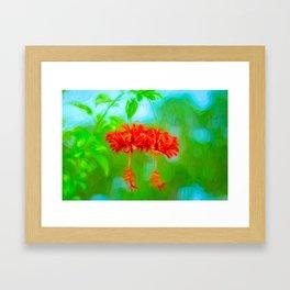 Japanese Lantern Flowers Framed Art Print