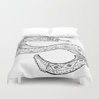 snake Duvet Covers featuring SNAKE by JustJustin