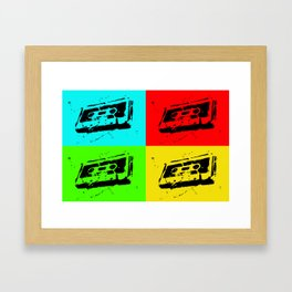 Cassettes Square Framed Art Print