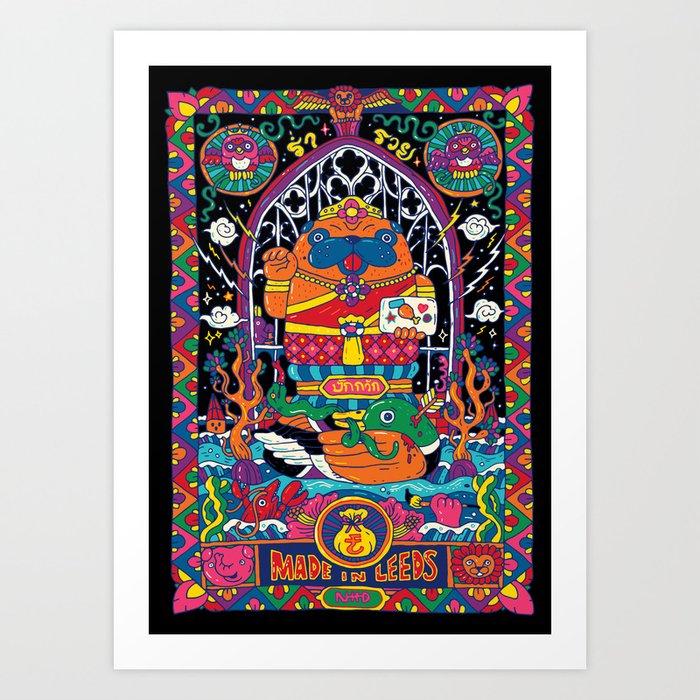 Pug Nang Kwak – Thai Goddess Of Wealth Art Print