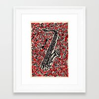 saxophone Framed Art Prints featuring Saxophone by Matt Larsen