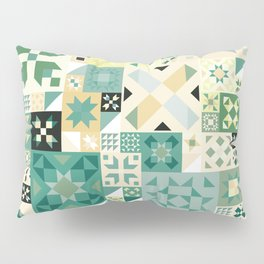 Teal Quilt Pattern Pillow Sham