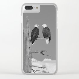 Perched With A View Duo - B & W Clear iPhone Case
