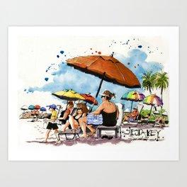 Morning on the Beach Art Print