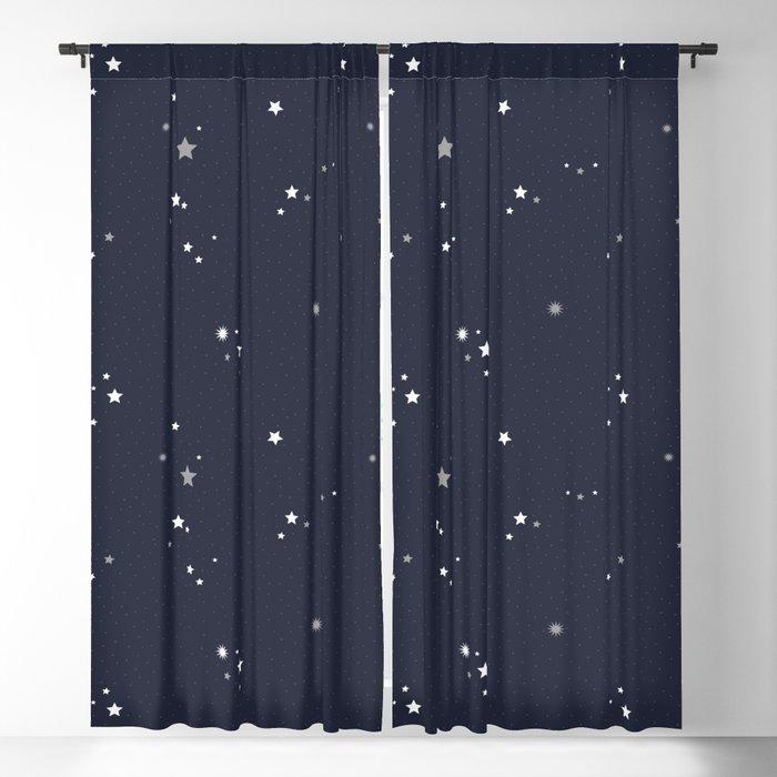 Starry Night Sky Blackout Curtain