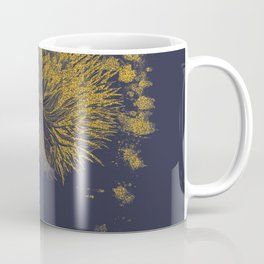 gold botanical illustration Coffee Mug