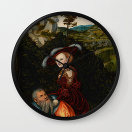 "Lucas Cranach the Elder ""Phyllis and Aristotle"" Wall Clock"