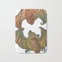 Colorful Belcher Mosaic Bats Bath Mat