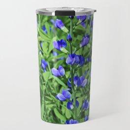 Blue False Indigo- vertical Travel Mug