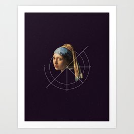 NOT Girl with a Pearl Earring Art Print