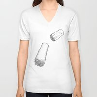 cabin pressure V-neck T-shirts featuring Under pressure by Sofish'art