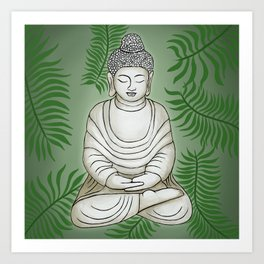 Buddha in the Garden Art Print